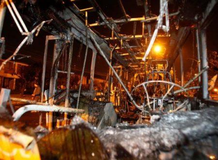 Cile: Incendio dell'autobus di trasporto urbano (04/06/2018)
