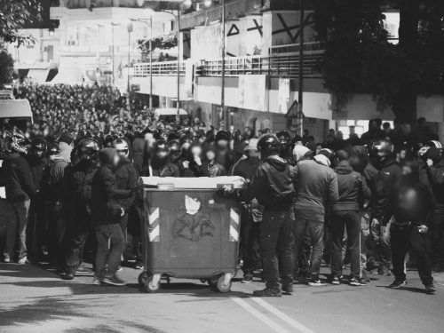 """Grecia: Consumimur Igni – Testo e striscioni in solidarietà con gli anarchici arrestati in Italia nell'Operazione """"Scripta Manent"""" (12/10/2016)"""