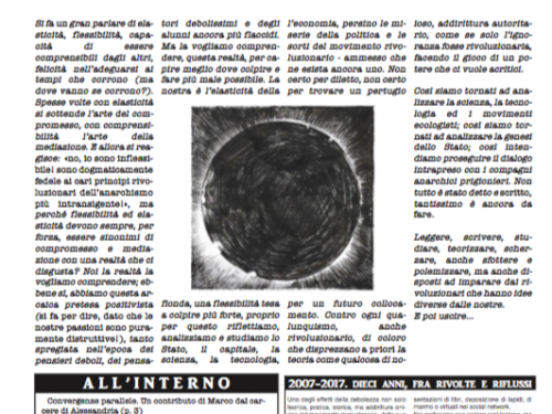 """Italia: E' uscito il numero 2 del giornale anarchico """"Vetriolo"""" (09/2018)"""
