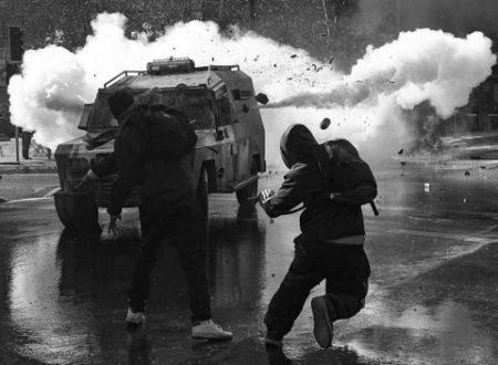 Santiago, Cile – Un compagno gravemente ferito dalla polizia al funerale di Kevin Garrido
