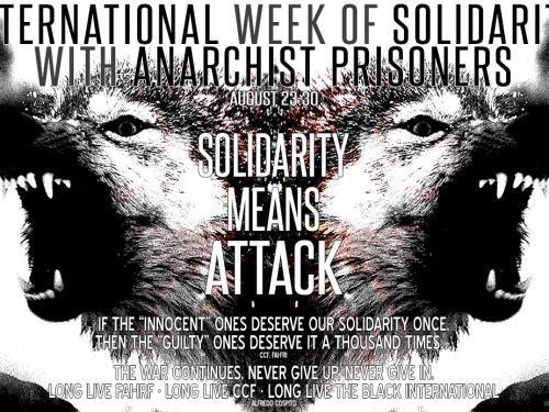 Poster for the International Week of Solidarity with Anarchist Prisoners (23-30/08)