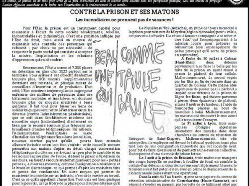 """Francia: Uscito n° 6 di """"Kairos"""" – giornale anarchico in lingua francese (10/2018)"""