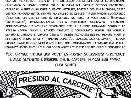 Trento – Presidio al carcere di Spini di Gardolo