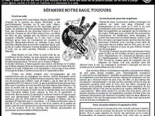 """Francia: Uscito n° 7 di """"Kairos"""" – giornale anarchico in lingua francese (11/2018)"""