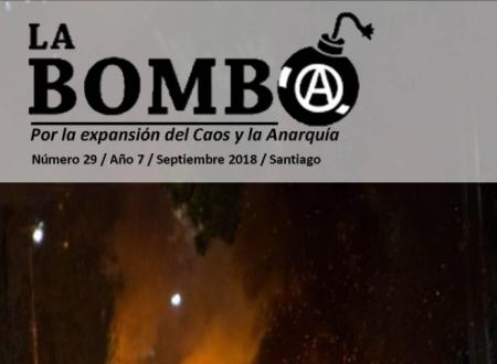 """Cile: E' uscito il numero 29 del bollettino anarchico """"La Bomba"""""""