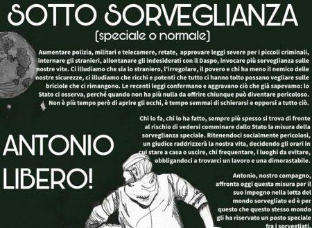 Sorveglianza speciale – Manifesto in solidarietà ad Antonio