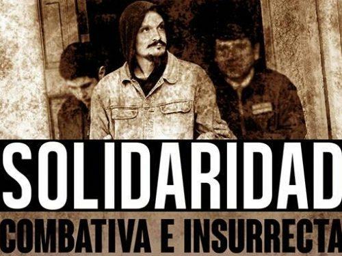 Cile: Manifesto di solidarietà con il prigioniero Joaquín García