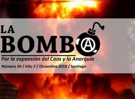 """Cile: E' uscito il numero 30 del bollettino anarchico """"La Bomba"""""""