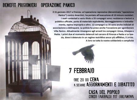 """Benefit prigionieri """"Operazione Panico"""""""