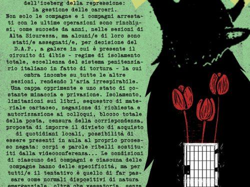 Tolmezzo, Ferrara, L'Aquila – Spezziamo quel silenzio di tomba! Presidi sotto le carceri