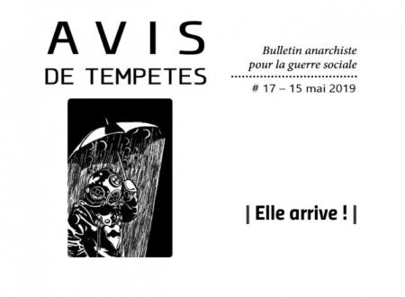 E' uscito Avis de Tempêtes Numero 17 – Bollettino anarchico per la guerra sociale (Maggio 2019)