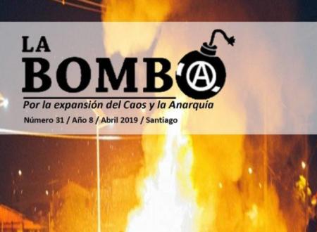 """Cile: E' uscito il numero 31 del bollettino anarchico """"La Bomba"""""""