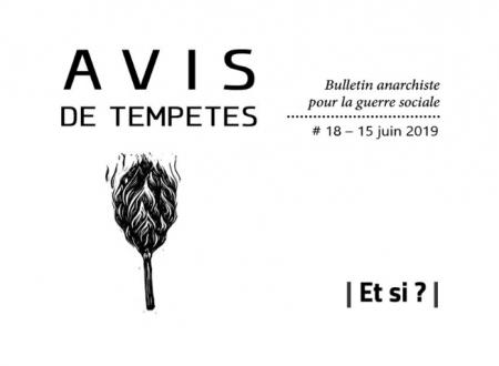 E' uscito Avis de Tempêtes Numero 18 – Bollettino anarchico per la guerra sociale (Giugno 2019)