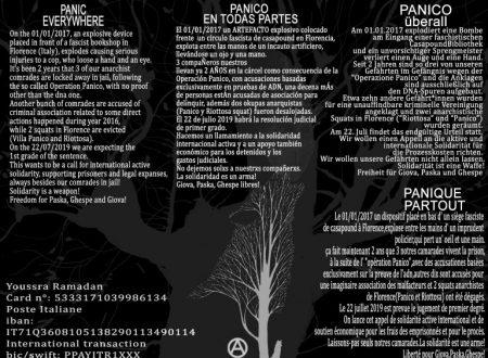 Operazione Panico – International solidarity request