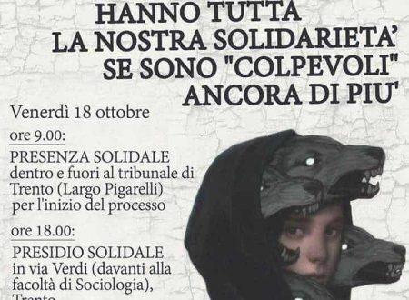 """Trento, Italia: Operazione """"Renata"""" – Inizio del processo"""