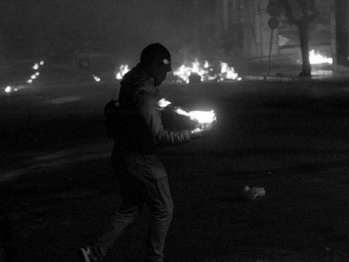 """Atene, Grecia: """"Chiamata alla solidarietà per il compagno anarchico Christoforos Kortesis"""" e """"Ovit S. A., Leroy Merlin, autorità – Tutte le merde collaborano insieme"""""""