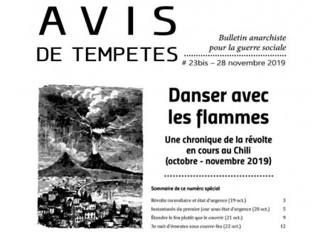 E' uscito Avis de Tempêtes Numero 23bis – Bollettino anarchico per la guerra sociale (Novembre 2019)