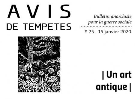 E' uscito Avis de Tempêtes Numero 25 – Bollettino anarchico per la guerra sociale (Gennaio 2020)