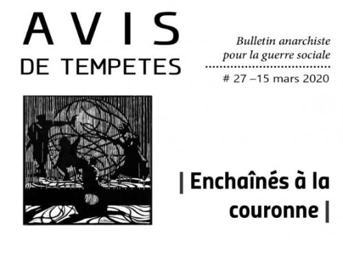 E' uscito Avis de Tempêtes Numero 27 – Bollettino anarchico per la guerra sociale (Marzo 2020)