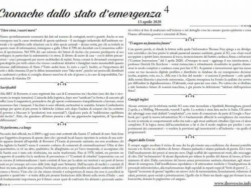 Cronache dallo Stato di Emergenza n° 4 – Foglio murale dal Trentino
