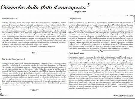 Cronache dallo Stato di Emergenza n° 5 – Foglio murale dal Trentino