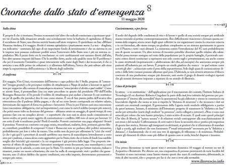 Cronache dallo Stato di Emergenza n° 8 – Foglio murale dal Trentino