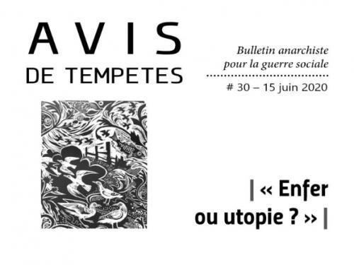 E' uscito Avis de Tempêtes Numero 30 – Bollettino anarchico per la guerra sociale (Giugno 2020)
