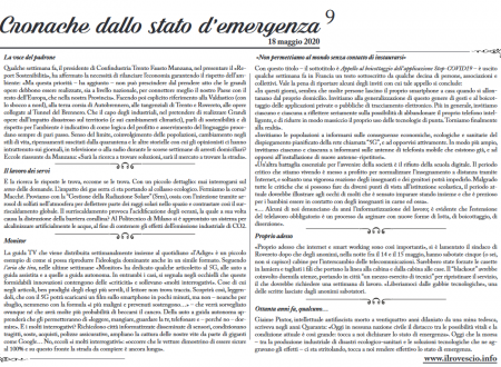 Cronache dallo Stato di Emergenza n° 9 – Foglio murale dal Trentino