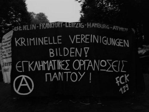Due parole sulle operazioni poliziesche del 16 settembre 2020 a Berlino e Atene