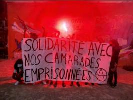 Lione: Solidarietà con i compagni anarchici imprigionati in tutto il mondo