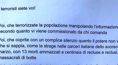 Torino: Volantino contro le redazioni de La Stampa e La Repubblica