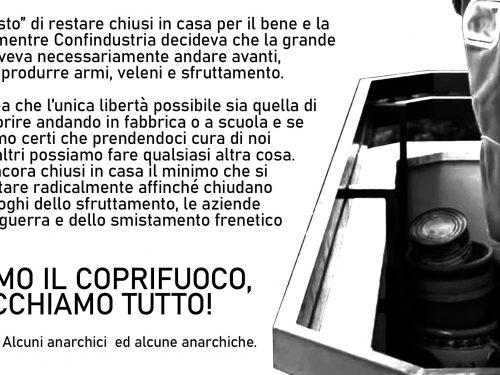 Contributo Taranto seconda ondata Covid – Violiamo il coprifuoco, blocchiamo tutto!