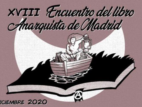 Madrid 4/5/6 dicembre: XVIII incontro del libro anarchico