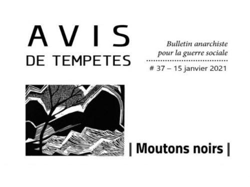 E' uscito Avis de Tempêtes Numero 37 – Bollettino anarchico per la guerra sociale (Gennaio 2021)