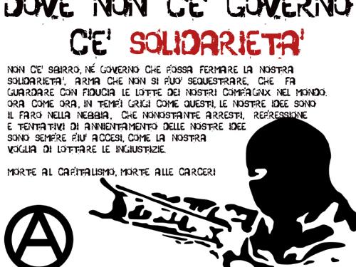 Volantino – Dove non c'è Governo, c'è Solidarietà