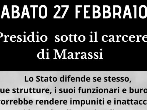 Genova: 27 Febbraio presidio al carcere di Marassi
