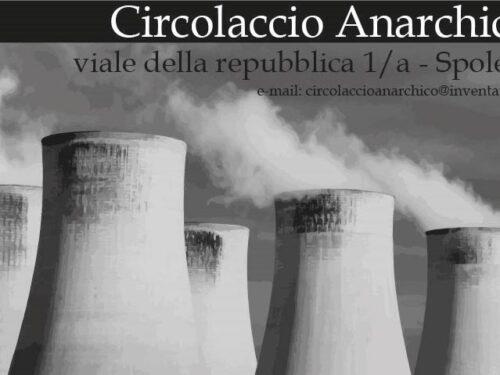 """Intervento di Alfredo Cospito al dibattito sulla lotta contro il nucleare per l'iniziativa """"Voi gli date vent'anni, noi gli diamo la parola"""""""