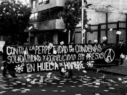Agitazione e propaganda in solidarietà con i prigionieri e le prigioniere sovversivi, anarchici e della rivolta in sciopero della fame