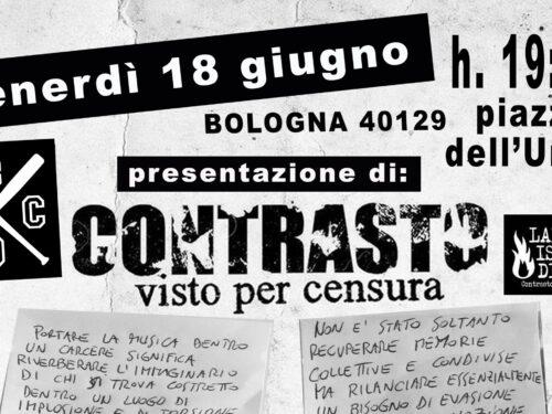 Bologna: Presentazione di Contrasto – Visto per censura