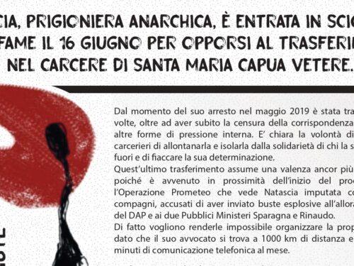 Al fianco di Natascia e di tutti i detenuti – Presidio solidale sotto il carcere di S.Maria Capua Vetere
