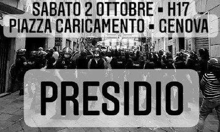 Genova: Presidio in Piazza Caricamento