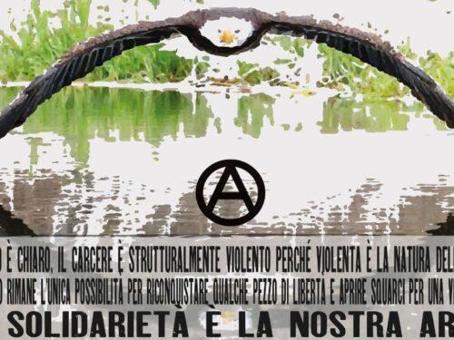 Presidio il 2 ottobre al carcere di Terni in solidarietà con i compagni anarchici