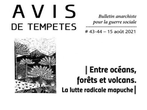 E' uscito Avis de Tempêtes Numero 43/44 – Bollettino anarchico per la guerra sociale (Agosto 2021)