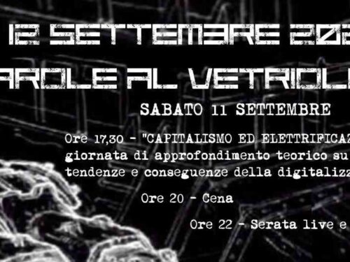 11-12 Settembre 2021 – Parole al Vetriolo